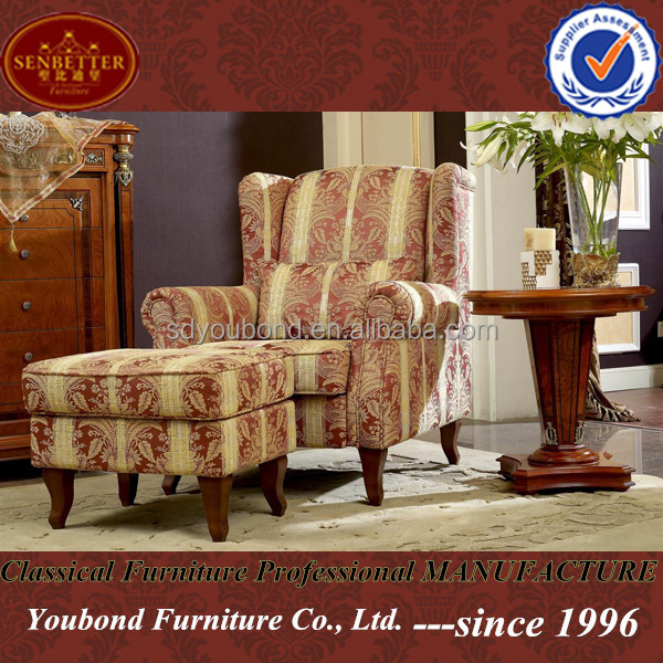 0029 Arabic Style Living Room Home Furniture Wooden Hand Carved Golden Rest  Sofa Chair Part 46