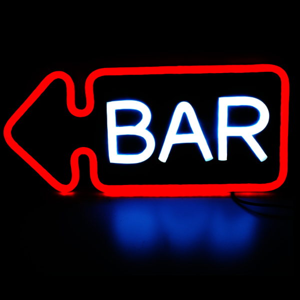 Acrylic Board Decoration Waterproof Custom Led Bar Neon Sign Led Wine Bar Neon Signs For