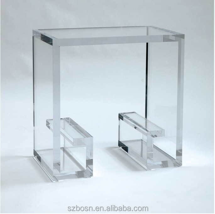 cheap acrylic coffee legs glass coffee buffet table