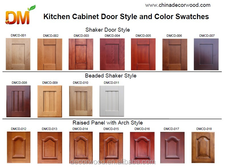 Raised panel solid wood used kitchen cabinets for sale