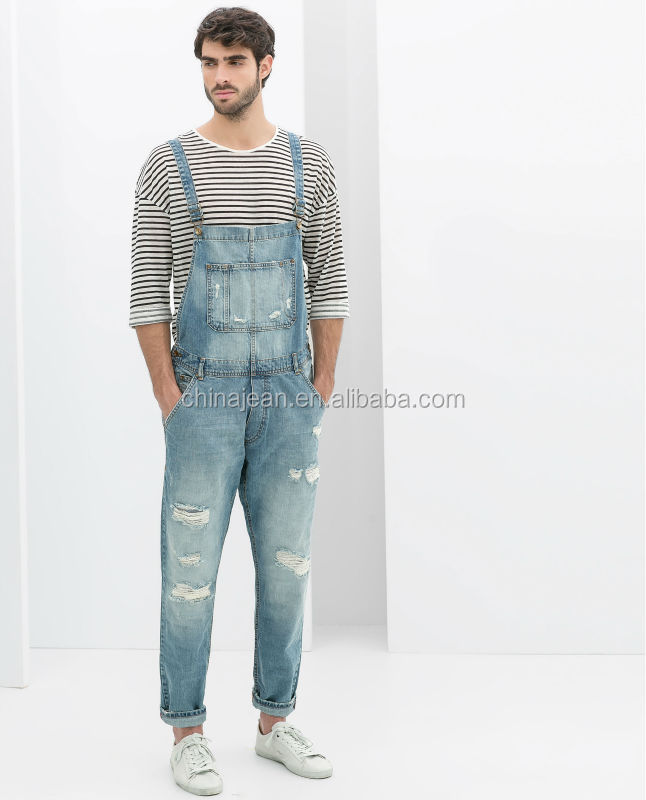 c5e7844812 2015 new design working overall jeans for men denim jeans jumpsuit  pants(JXW519)