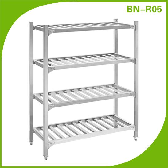 Stainless Steel Kitchen Vegetable Storage Rack 4 Foot Height Adjule Plate 38