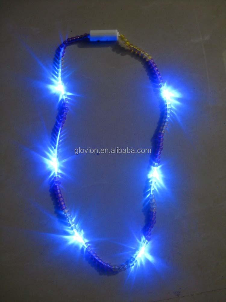 Led Light Up Beads Plastic Necklaces Flashing Led Bead Necklace ...
