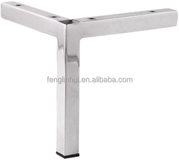 Chrome Sofa Leg Square Tube Metal Furniture Legs A332