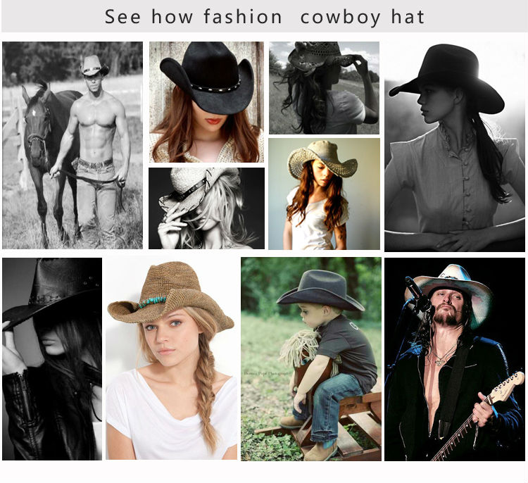 Cheap Adult Promotional Wholesale Mexican Felt Straw Cowboy Hats ... 0b3f19770dc