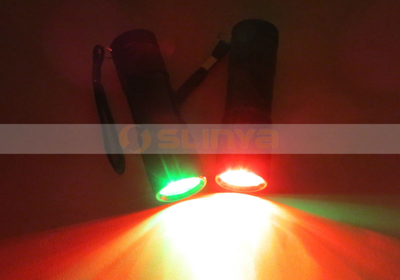 Fishing Hunting Boating Red Green 2 Color Ally SOS Signal Flashlight
