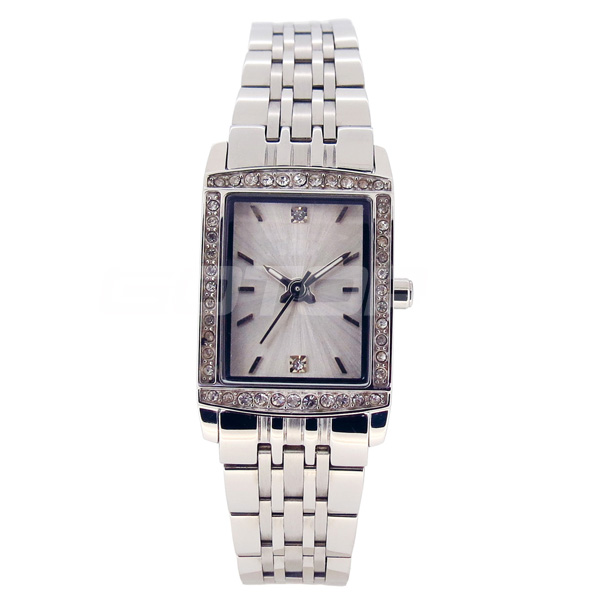 Classic Design Square Watch Face High End Quality Diamond Decorated