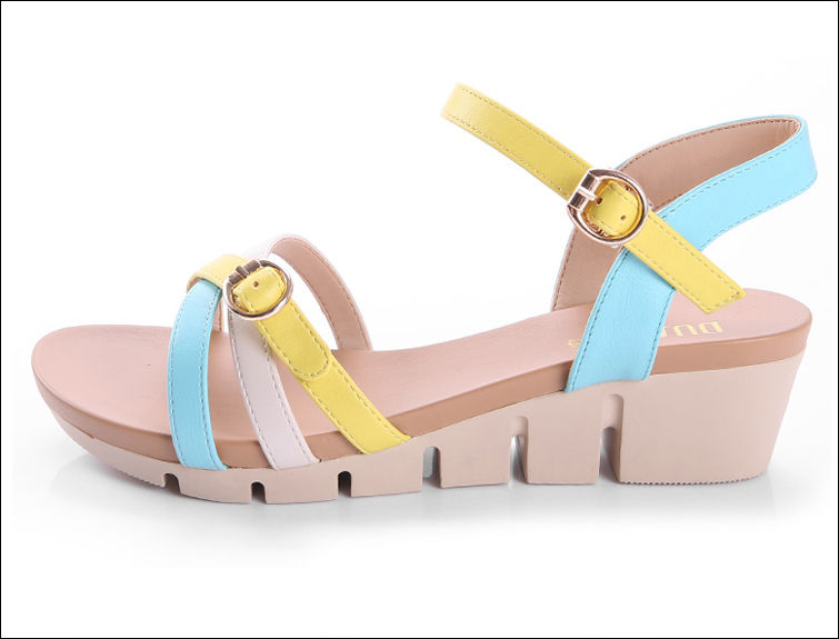 New Design Fashion Wedge Shoes Latest Footwear For Girls Lady Shoe ...