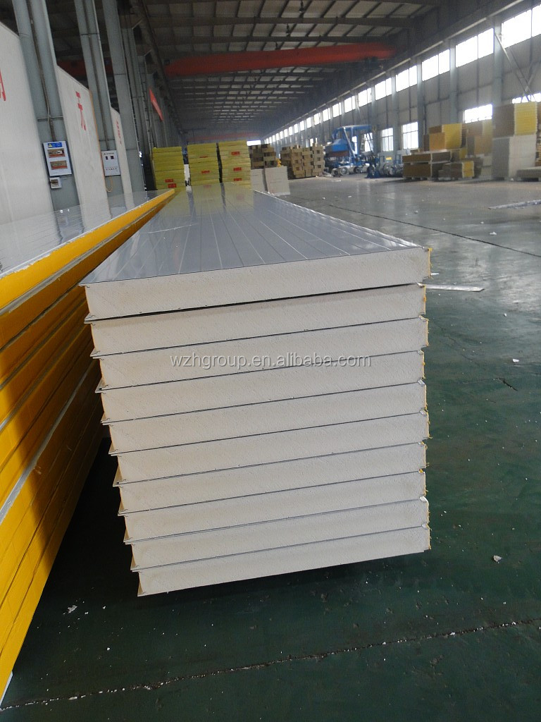 Polyurethane Foam Panels : Pu sip panel with double steel sheet metal and