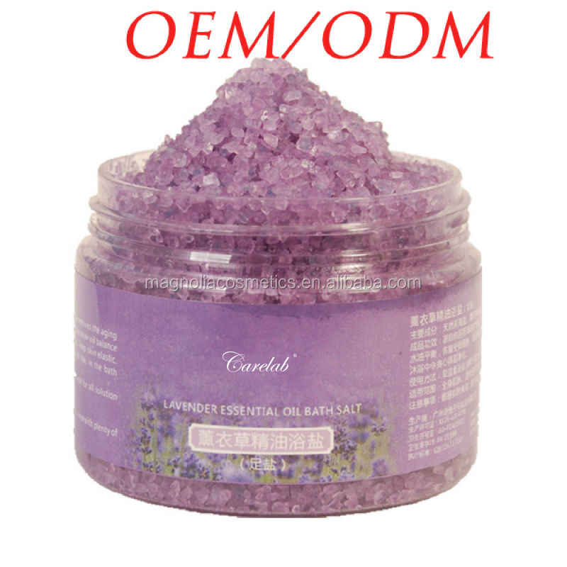 Lavender Essential Oil Dead Sea Salt Foot exfoliator