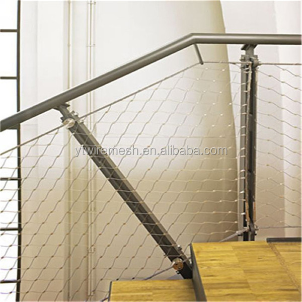 Excellent Flexible Wire Rope Netting For Stairs Balustrades