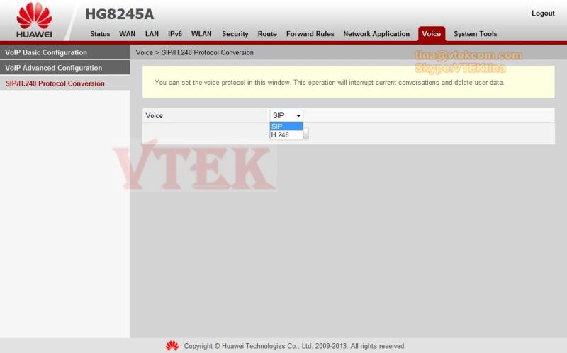 Huawei hg8240 user manual