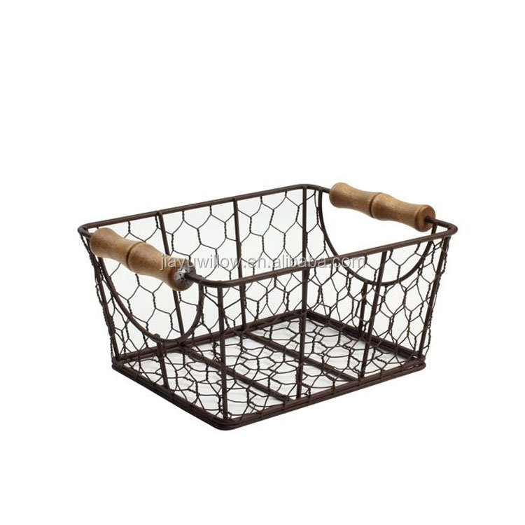 Wholesale Wire Baskets Wire Bread Baskets Storage Metal Wire Mesh ...