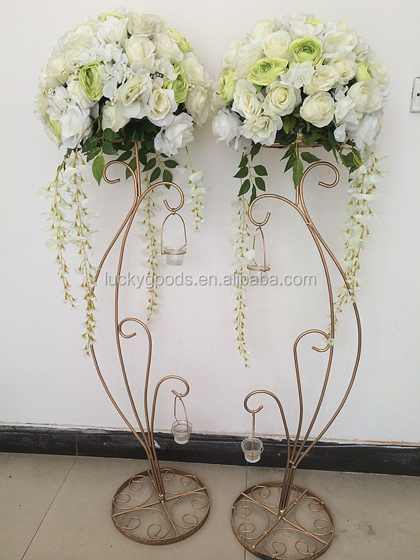 Hot Sale Decorative 1 2m Metal Wedding Flower Stands View