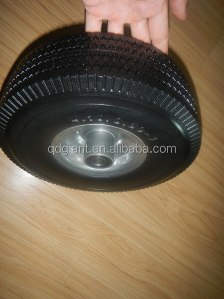 China pu wheels 3.50-4 with plastic rim for wagon