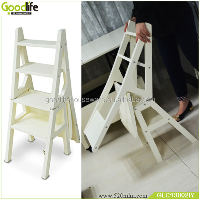 Wooden Folding Library Step Chair Ladder Made In China Buy
