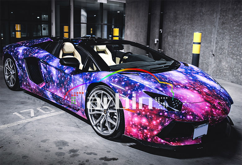 Car Styling Galaxy Starry Sky Vinyl Wrap FilmBubble Free Sticker - Custom design car decals free