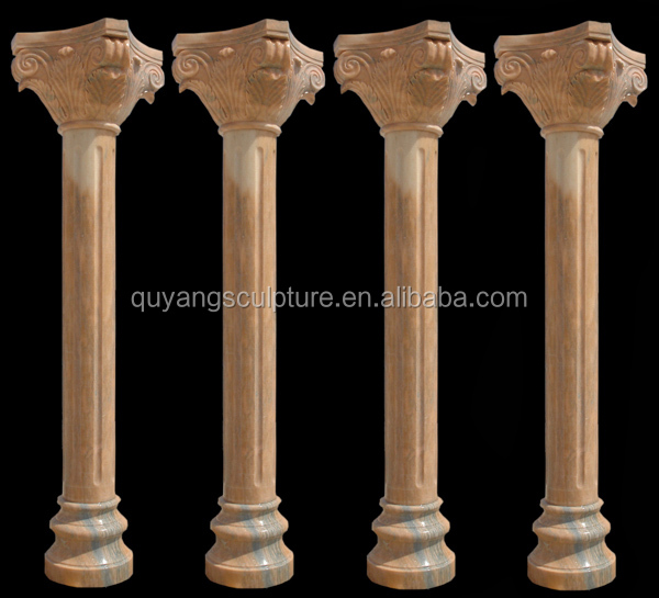 Cheap Red Roman Marble Pillar