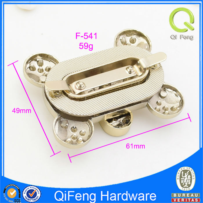 F-541 Gold Handbag Hardware Clasp Fashion Turn Lock Metal Ornament ...