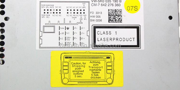 Vw Original Rcd510 Eu Rds Version English Support Optical Parking System Ops 5k0 035 190 B Made