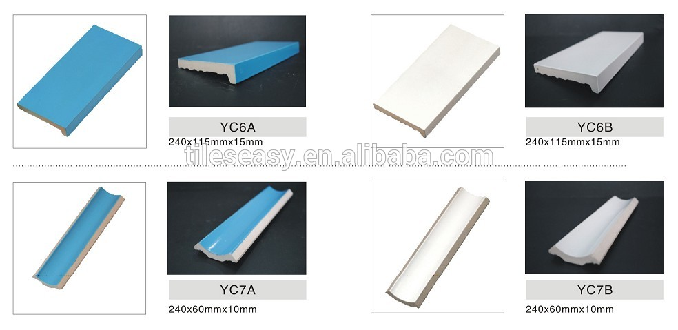 Ceramic Tile Corner Trim For Swimming Pool