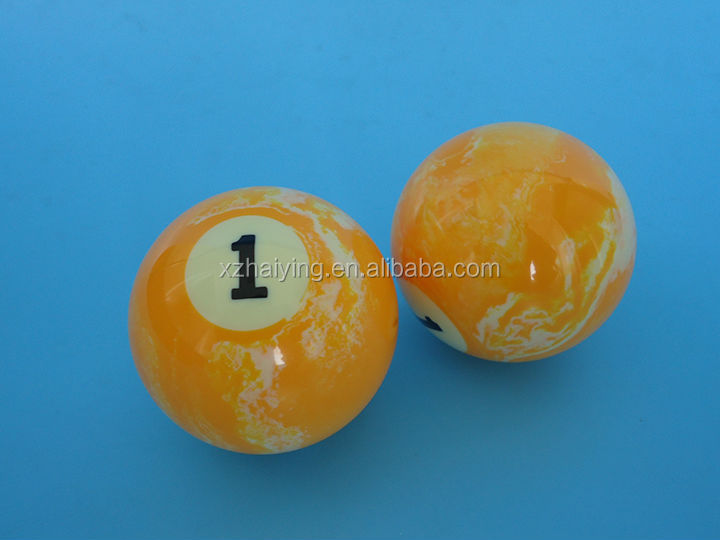57mm Resin Colored Marble Billiard Balls