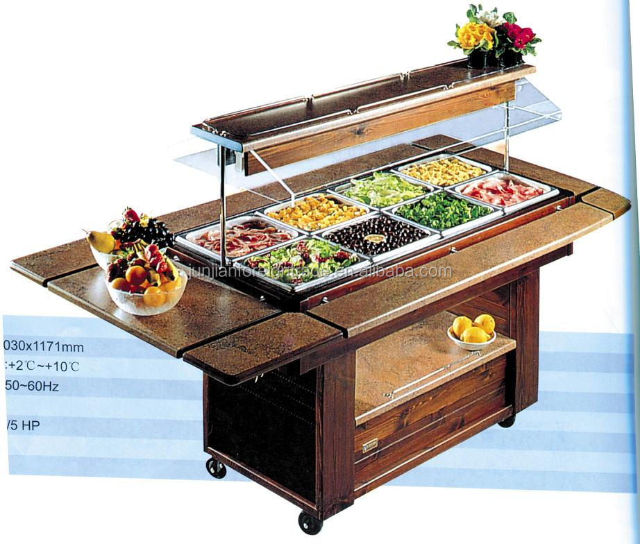 Luxury Marble Salad Bar Display Counter Commercial ...