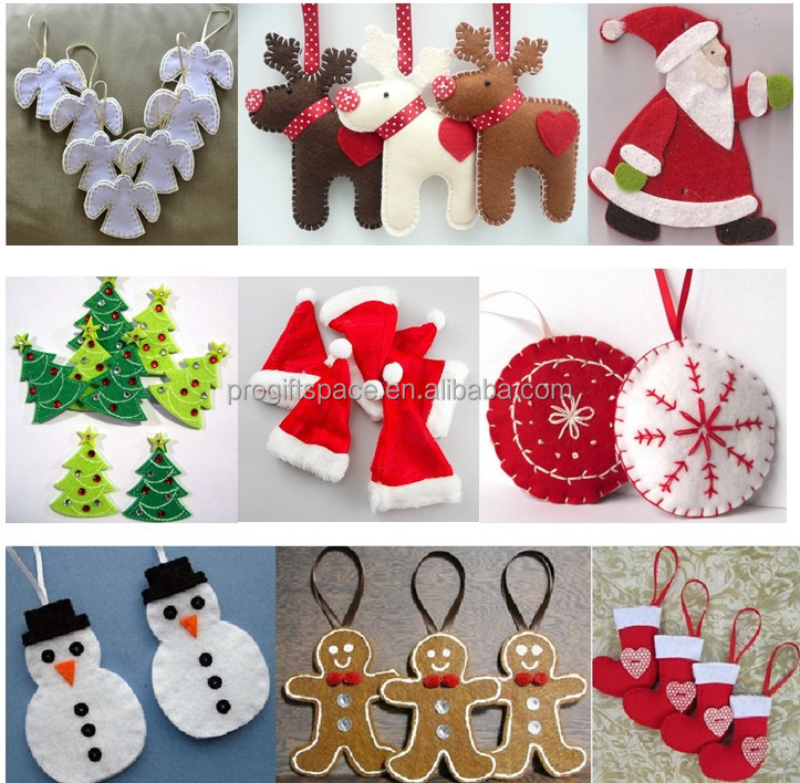 qq20180513095349jpg - Handmade Felt Christmas Decorations