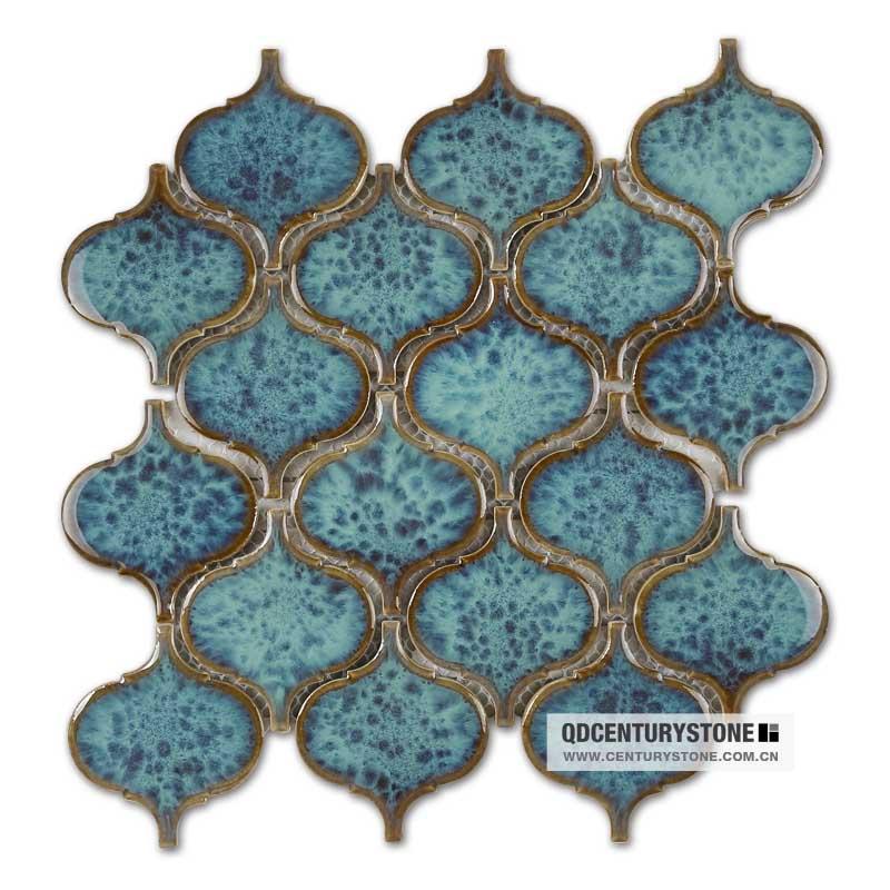 Premium Mosaics White Marble Stone Lantern Mosaic