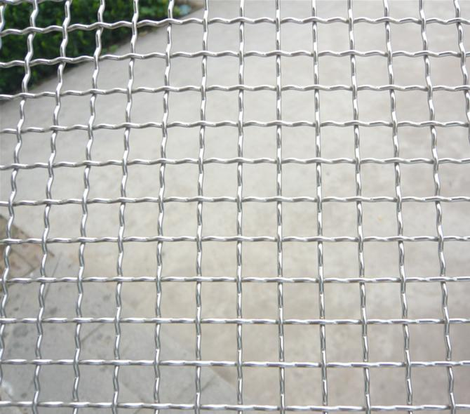 Galvanized square wire mesh chicken crimped