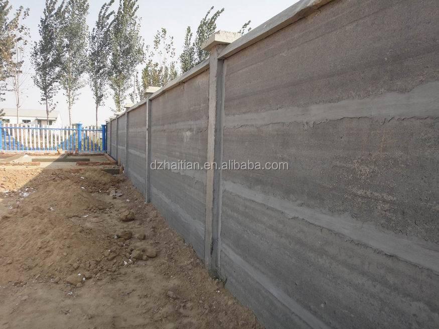 Precast Concrete Lightweight Fence Wall Panel Making
