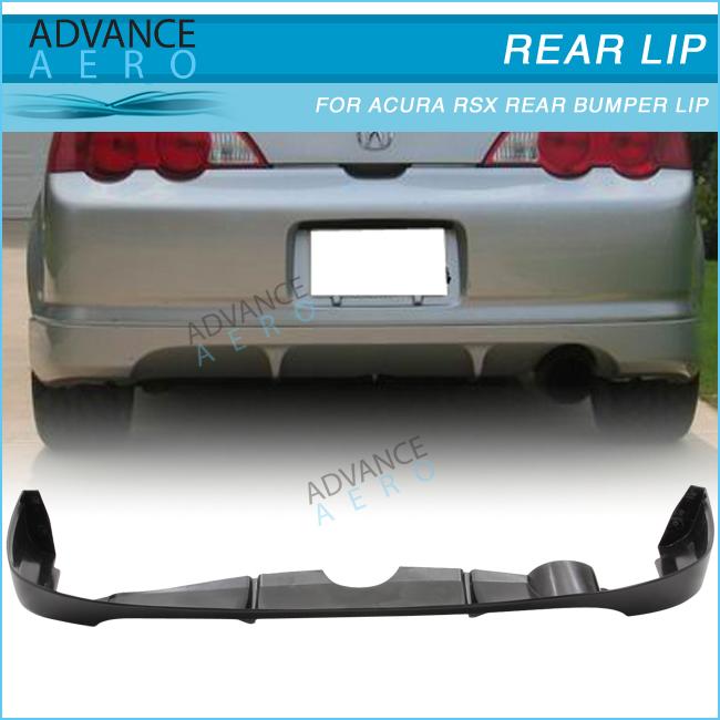 For 02-04 Acura Rsx Poly Urethane Pu Black Rear Bumper Lip Spoiler ...