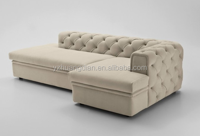 Low Back Small Fabric Corner Sofa With Good Price Ys183