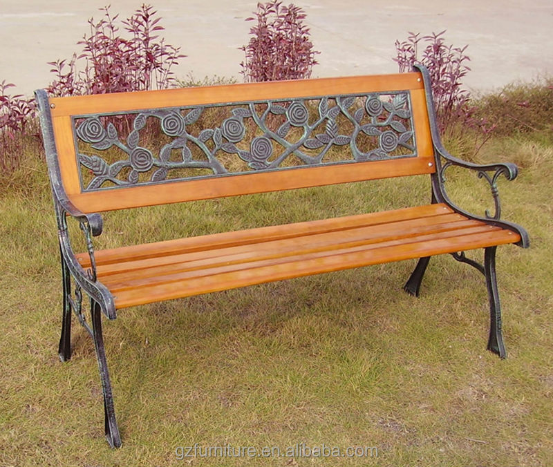 3 Seater Wooden Slat Garden Bench Cast Iron Legs Buy