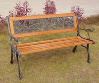 Garden Bench / Park Bench Cast Iron Frame And Hardwood Slats - Buy ...