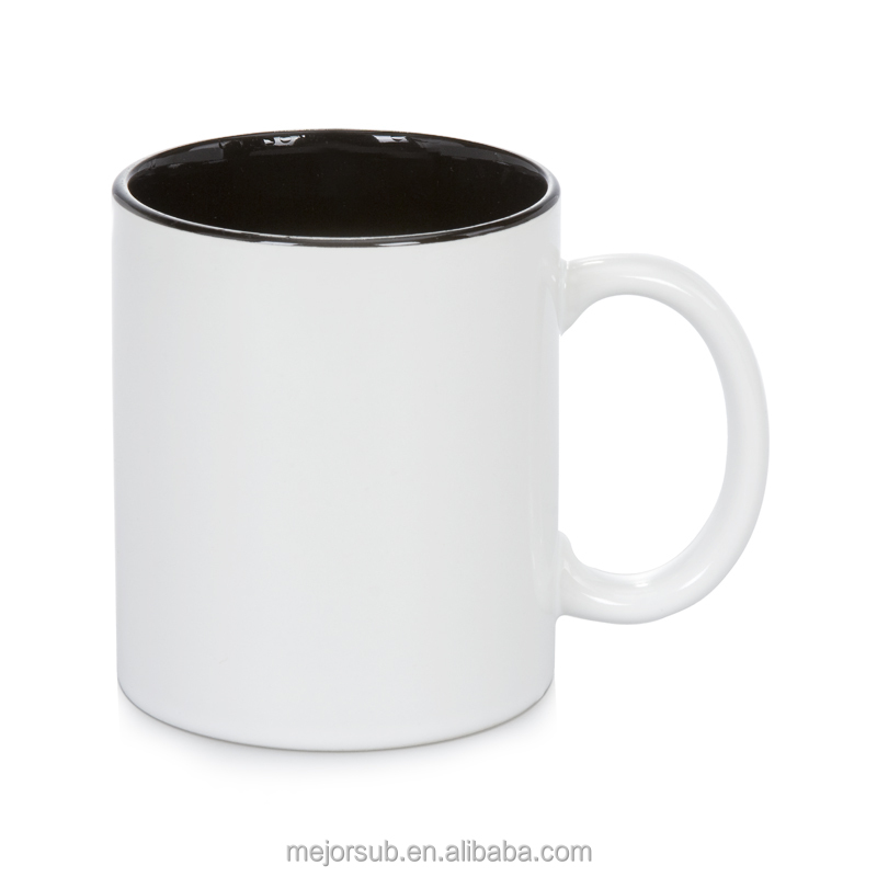 Factory Directly Plain White Ceramic Mug Inner Color 11oz Coated
