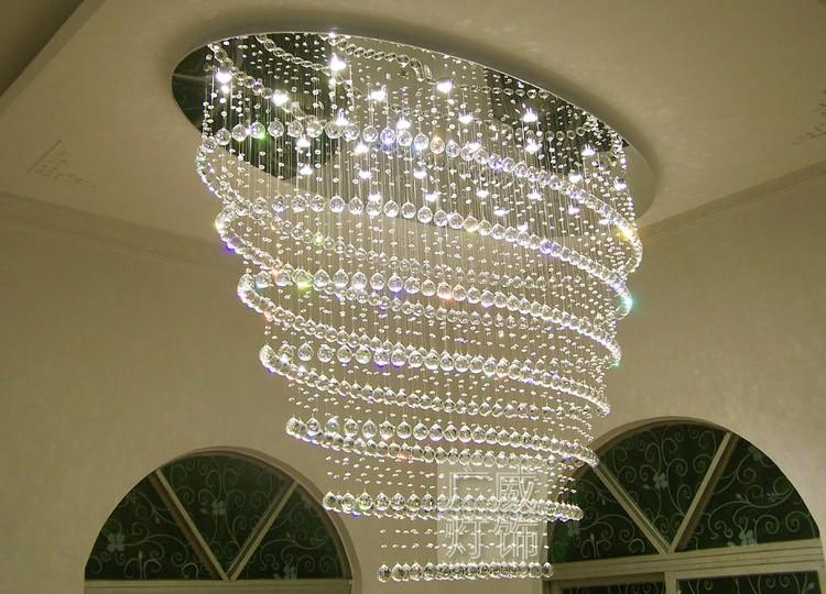 Oval Shape Large Hotel Lobby Crystal Chandelier Buy