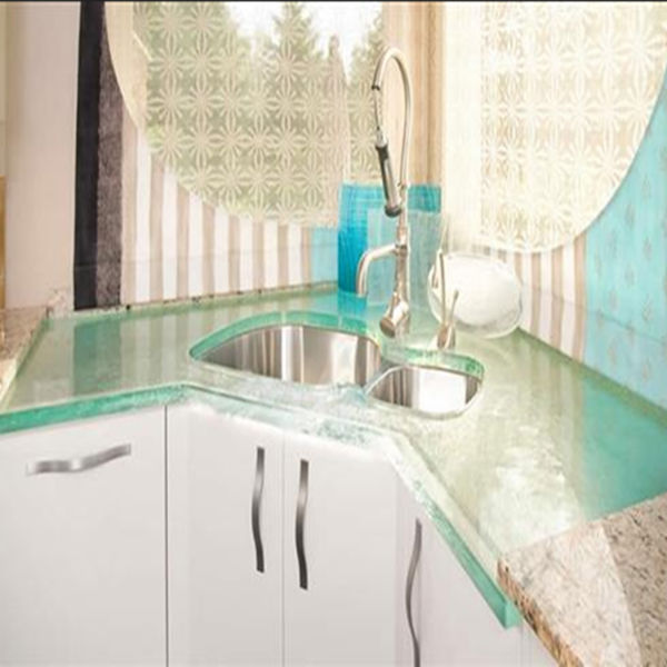 Textured One Piece Bathroom Sink And Countertop View One
