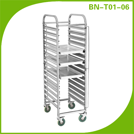 Cosbao Double Rows 6 Layers Tray Trolley Hotel Trolley