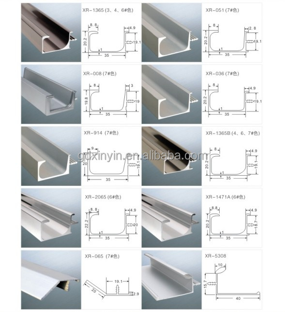 18mm Panel V Shape Aluminium Profile Cabinet Handles With