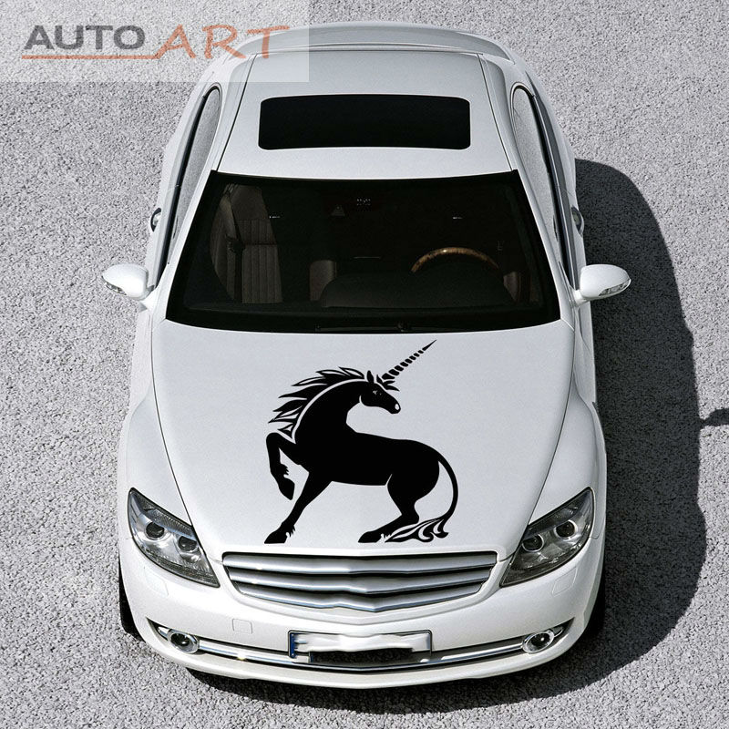 Design art fantasy magical car vinyl unicorn decal