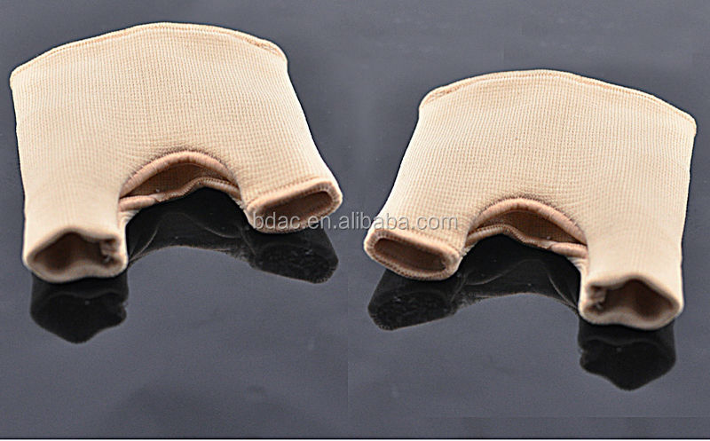 custom nylon silicone gel sleeve covers foot alignment hallux valgue pro two-toe separate socks bunion toe protector