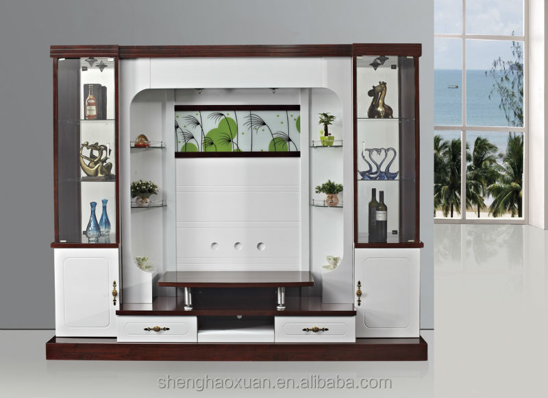 Wall Almirah Design For Living Room : Shx design living room tv set furniture led wall