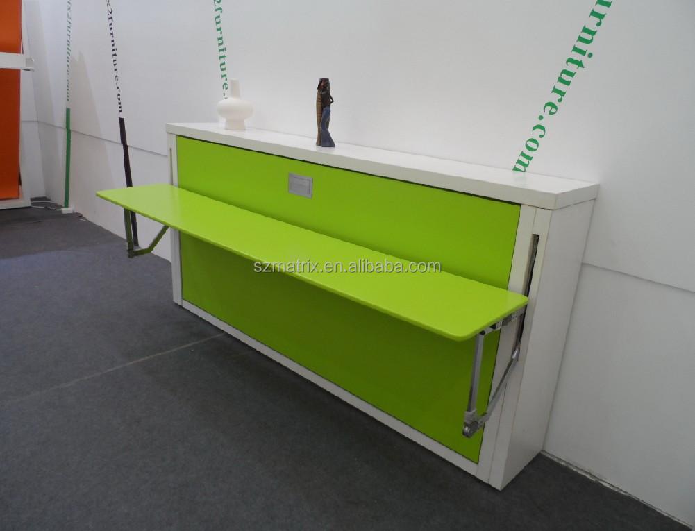 Platzsparende Horizontale Wand Bett Mit Computer-tisch,Pull-down ...