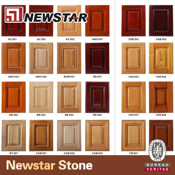 Newstar modular gabinete de cocina de madera con encimeras for Modelos de puertas de madera para cocina integral