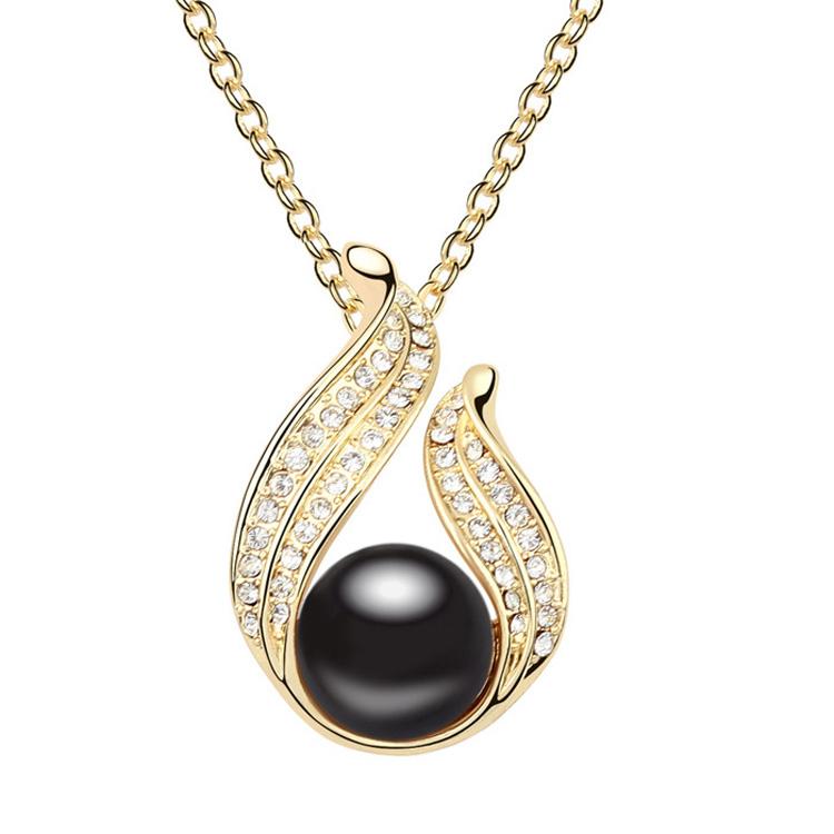 2014 Grosir Perhiasan Berkualitas Tinggi Modis Emas 24 Karat Kalung