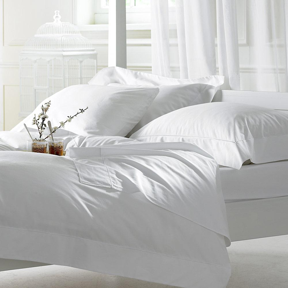 Wholesale Plain White Cotton Fabric For Bed Sheet Pillow