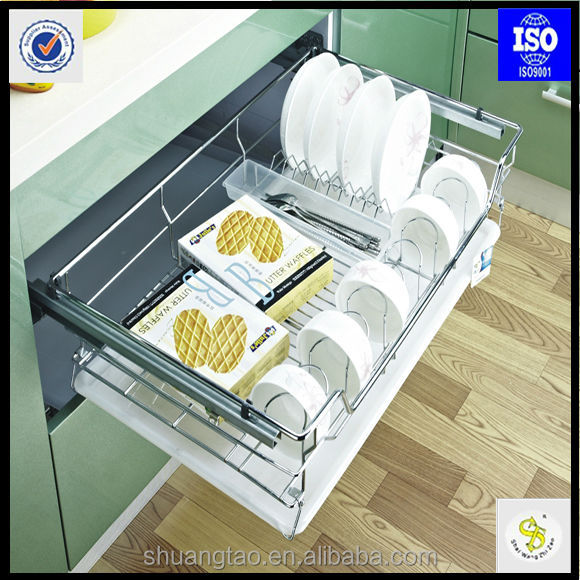 chrome pull out kitchen drawer baskets/hot sale wellmax kitchen ...