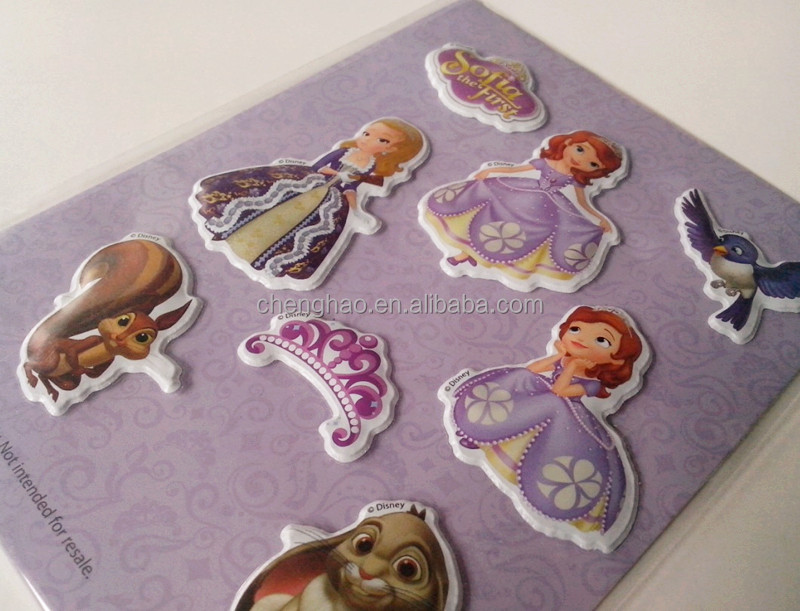 novelty glitter beautiful printing color custom scrapbook stickers