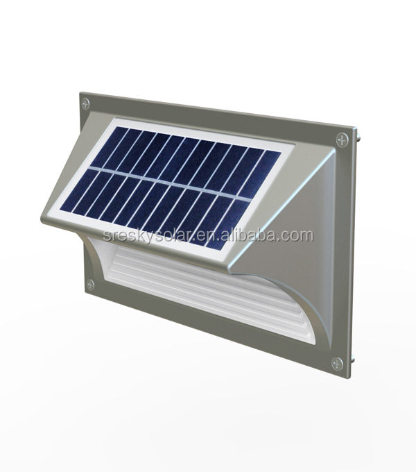 All In One Design Outdoor Solar Wall Light With Sensor